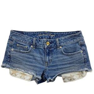 American Eagle Cut off Shortie Shorts